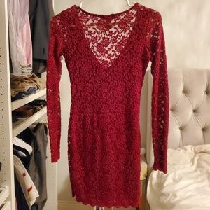 Forever 21 red lace dress